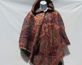 Yak//Sheep Wool Blend Shawl//Throw Handcrafted Kashmiri Colors Red//Khaki//Sand