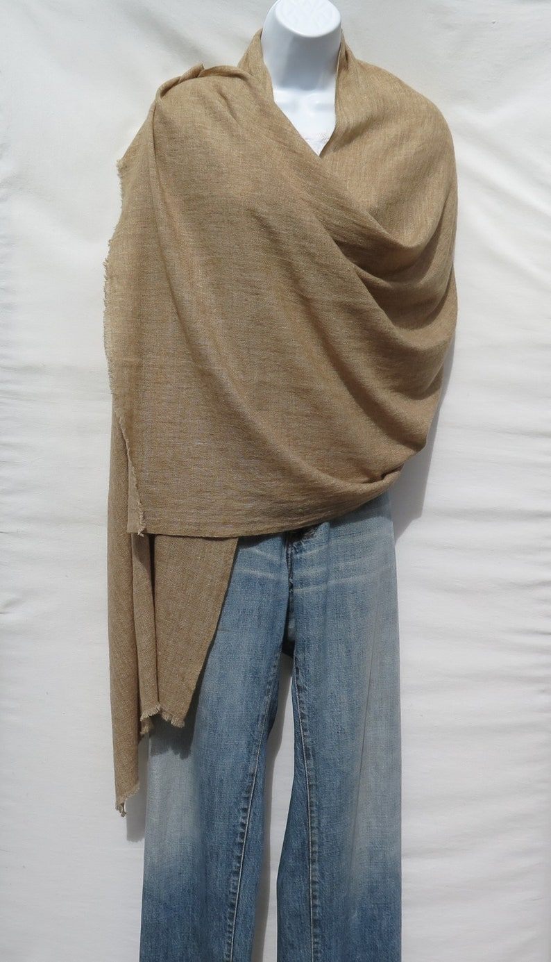 Gray /& Ivory White 100/% Ultra Soft Thin Luxurious Himalayan Cashmere Pashmina Scarf Wrap