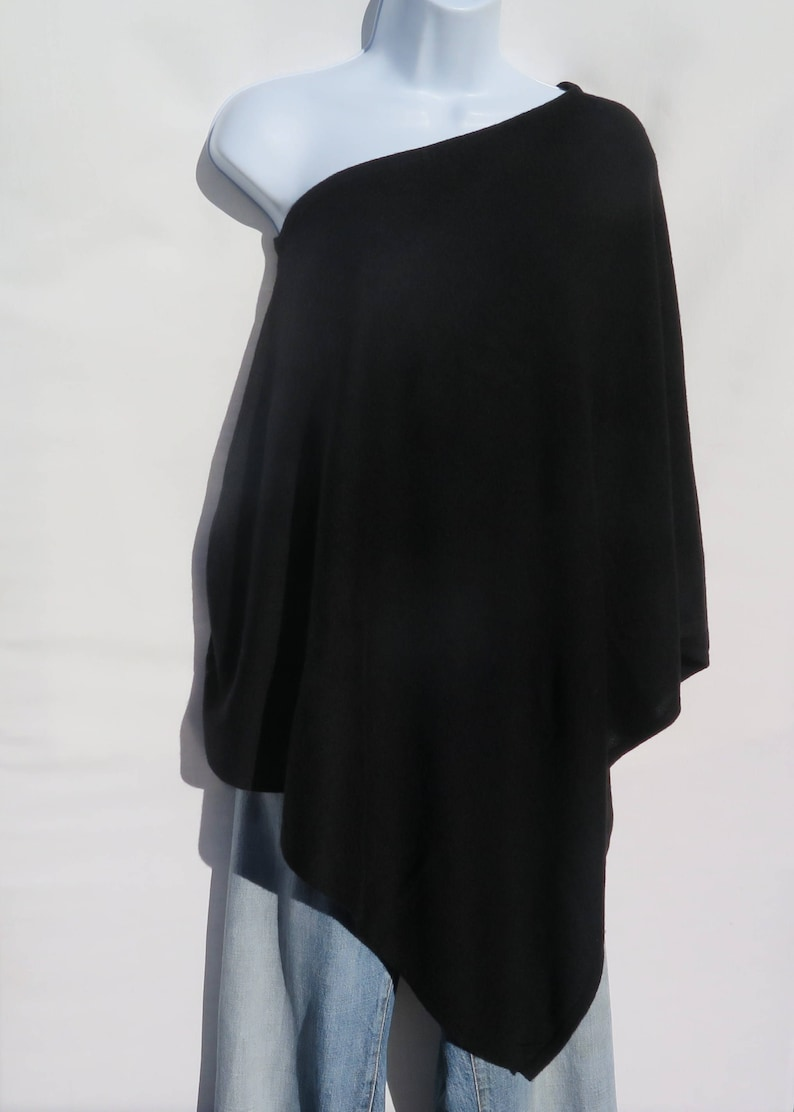 Handloomed Knit 1 Size Premium Quality Boat Neck Black 100/% Cashmere Himalayan Cashmere A+ Yarn Poncho NBK.6338