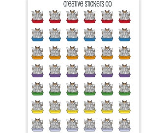 Clean Kitty Litter Planner Stickers #054