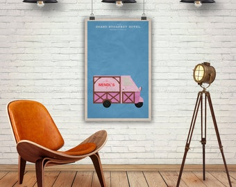 The Grand Budapest Hotel. Wes Anderson Films Poster. Mendl's Truck. Pop Art Print. Pop Culture and Modern Home Decor Poster. Item No. 150