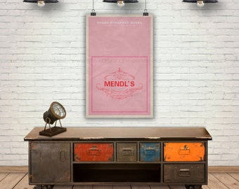 The Grand Budapest Hotel. Wes Anderson Films Poster. Mendl's Cake Box. Pop Art Print. Pop Culture and Modern Home Decor Poster. Item No. 151