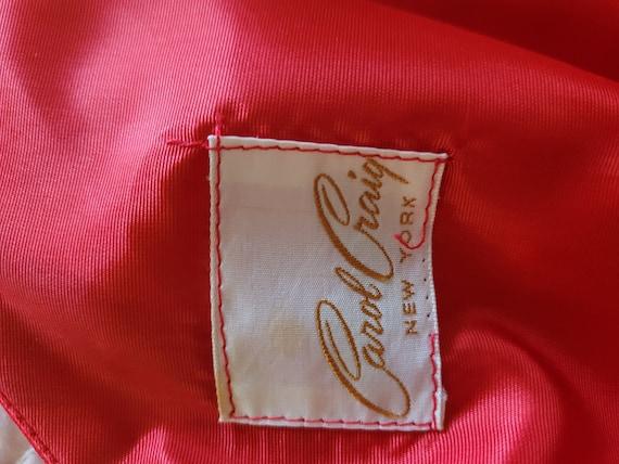 VIntage 1950s prom/formal chiffon red dress - image 6
