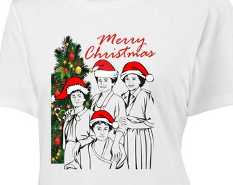 The Golden Girls Merry Christmas T-Shirt -Adult Mens & Womens sizes S-3Xl many colors - stay golden betty white bea arthur rose blanche