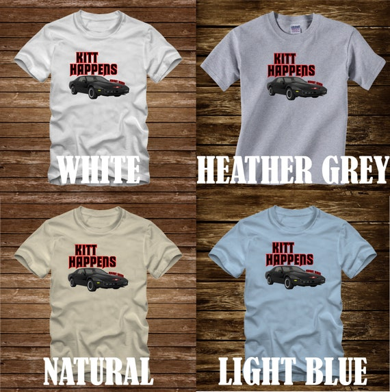 Knight Rider /'82 KITT /& Michael Vintage Style Adult Long Sleeve T-Shirt S-3XL