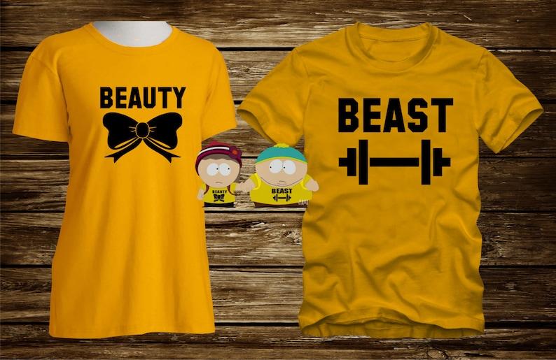 2e5636ec Matching T-Shirts BEAUTY / BEAST Men's and Women's | Etsy