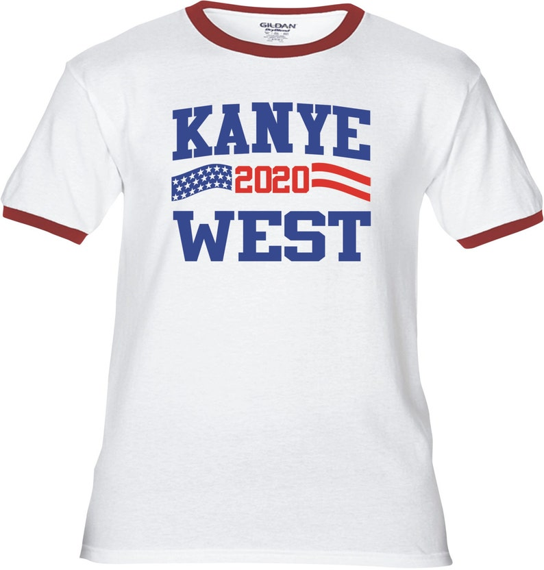 407a1273 KANYE WEST 2020 Flag stripe for President Premium T-Shirt | Etsy