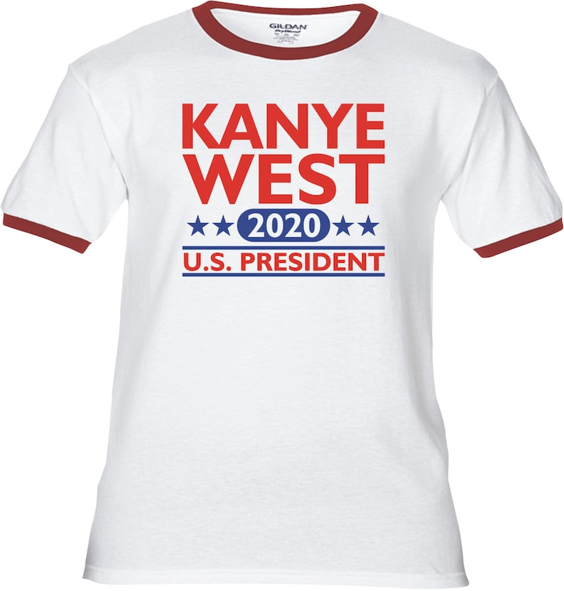 e82bc1ad KANYE WEST 2020 US President Premium T-Shirt Many Color | Etsy