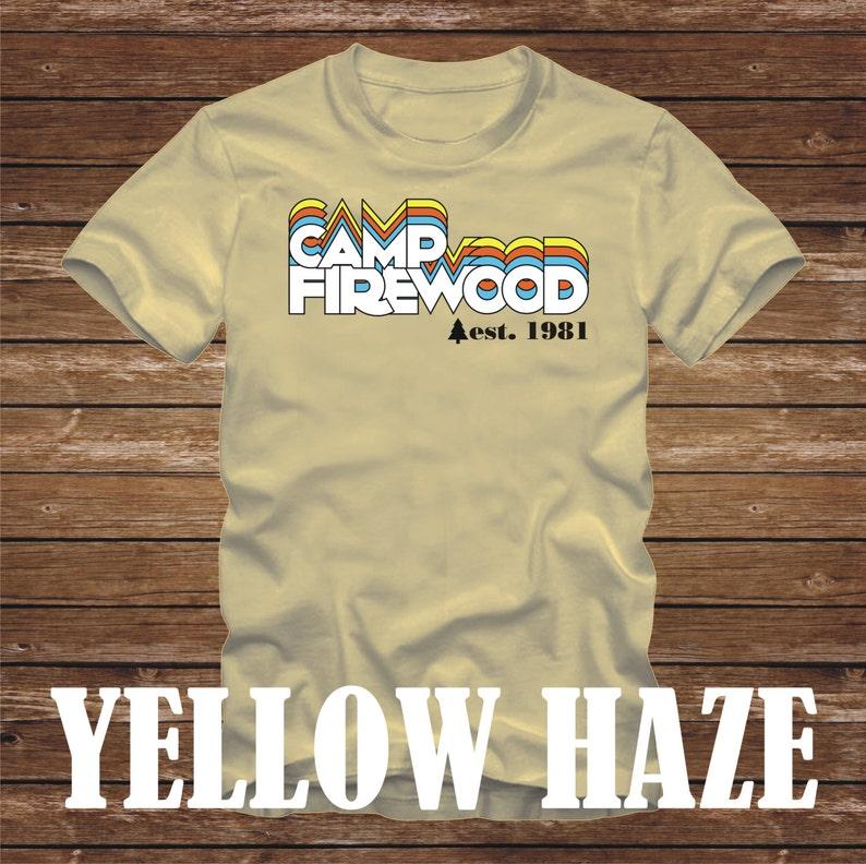 f1bf40c83 CAMP FIREWOOD T-Shirt 1981 version wet hot american summer | Etsy