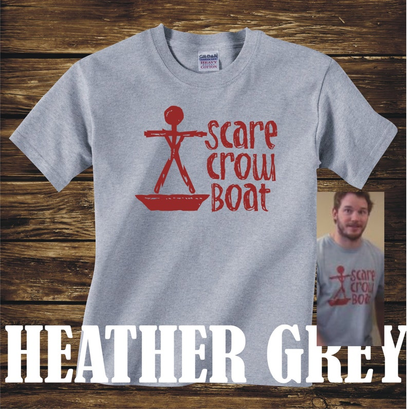 810fa99a96842 ON SALE - Scarecrow Boat Band Tshirt from Parks and Recreation scare crow  boat mouse rat- Adult sizes - fun Tv Chris Pratt Andy Dwyer