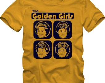 The GOLDEN GIRLS Distressed - Premium T-Shirt -Many Color Options-Ringers/Cottons/Blends/Tank Tops - stay golden betty white bea arthur