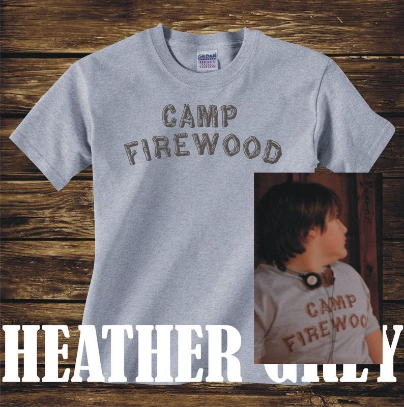 c98a3db42 CAMP FIREWOOD T-Shirt log text version wet hot american | Etsy