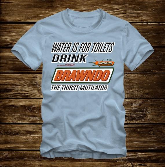 Idiocracy Brawndo Thirst Mutilator Men/'s Gold T-shirt