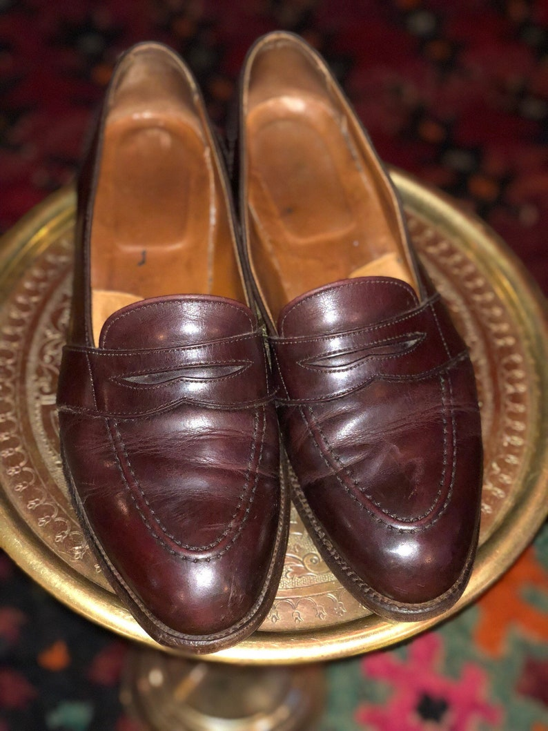 f6e5bf38014 Vintage Brooks Brothers Penny Loafer Dress Shoes Oxblood Brown