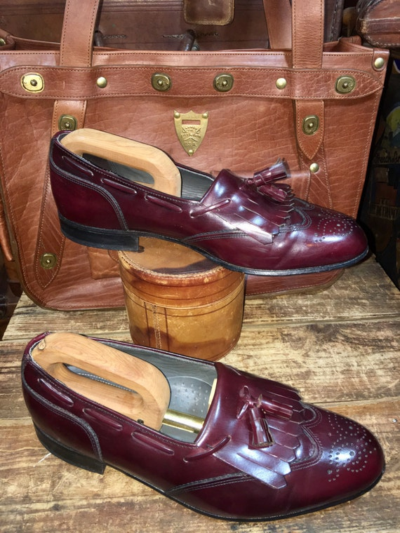 Wingtips 9 Shoes Size the Leather in Dexter Oxblood Men's Vintage Loafer Made EE USA 5 Tassel Dress Burgundy Kiltie A45xwn7qnR