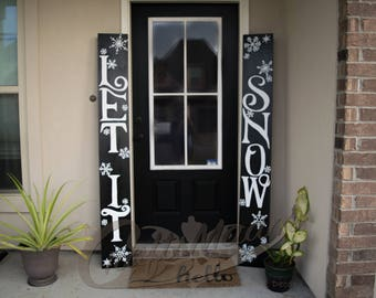 Let It Snow Sign, Outdoor Christmas Decorations, Front Door Decor, Christmas Decor, Outdoor Christmas Decor, Winter Decor, Free Shipping