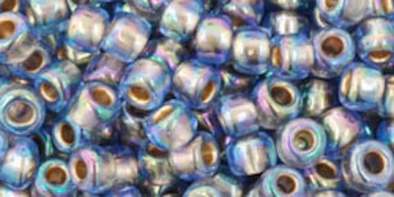 Toho Seed Beads 8//0 Light Sapphire Silver Lined 25 grams