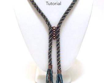 PDF - Kumihimo Zipped Lentil Lariat Necklace Tutorial