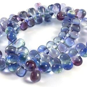 6x9mm Amber topaz czech glass teardrop beads 1517 Yellow drop pressed beads 40pc