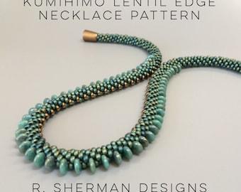 PDF - Kumihimo Lentil Edge Necklace Pattern