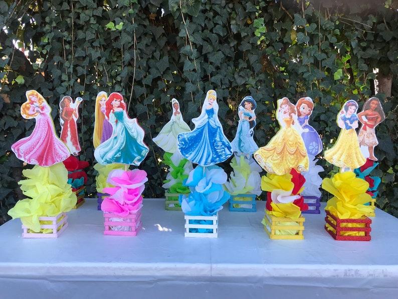 11 Disney Princess Table Centerpieces Birthday Party