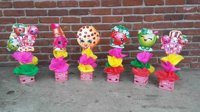 Shopkins Birthday Party Wood Centerpiece Party Favor Great For Etsy