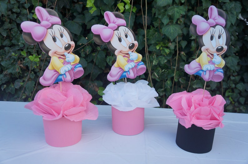 Disney Baby Minnie Mouse Centerpiece Birthday Party Baby Etsy
