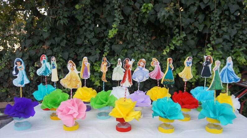 Disney Princess Table Centerpieces Desert Decorations