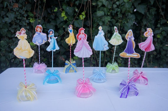 9 Disney Princess Desert Table Centerpieces Decorations Candy Etsy