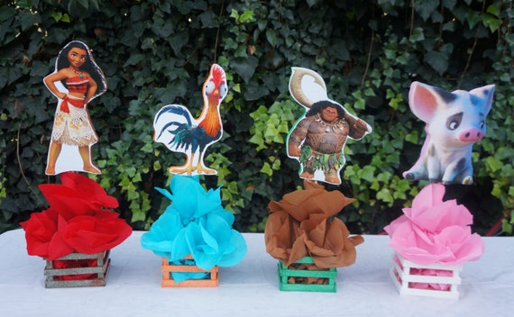 Inspired Disney Moana Birthday Party Decorations Table