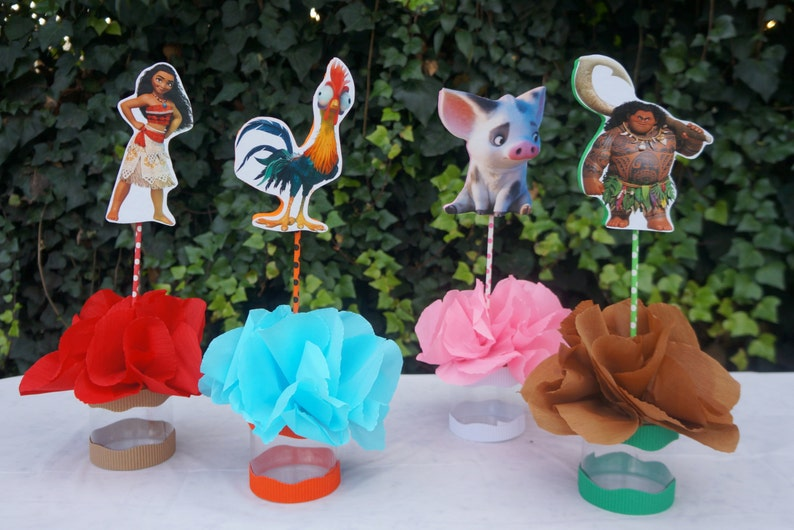 Inspired Disney Moana Birthday Party Decorations Table