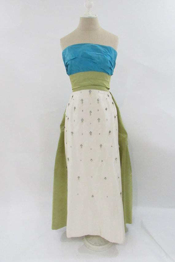1950's  vintage evening gown // Vintage Designer G