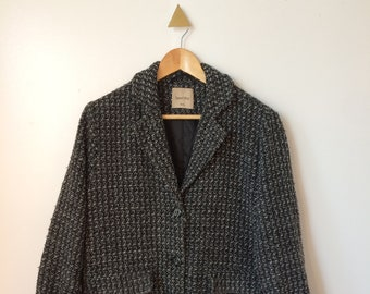 Black & Gray knit coat M/L