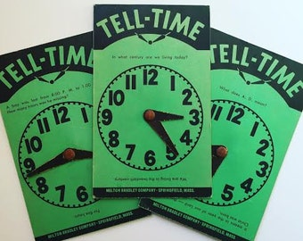 Tell-Time Quizmo Classroom Cards - Clock Game - Kids Education Cards - Time Cards