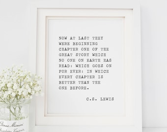 CS Lewis Quote Print — Christian Printable Wall Art Marriage Wedding Print Typewriter Quote Prints Black And White Print INSTANT DOWNLOAD