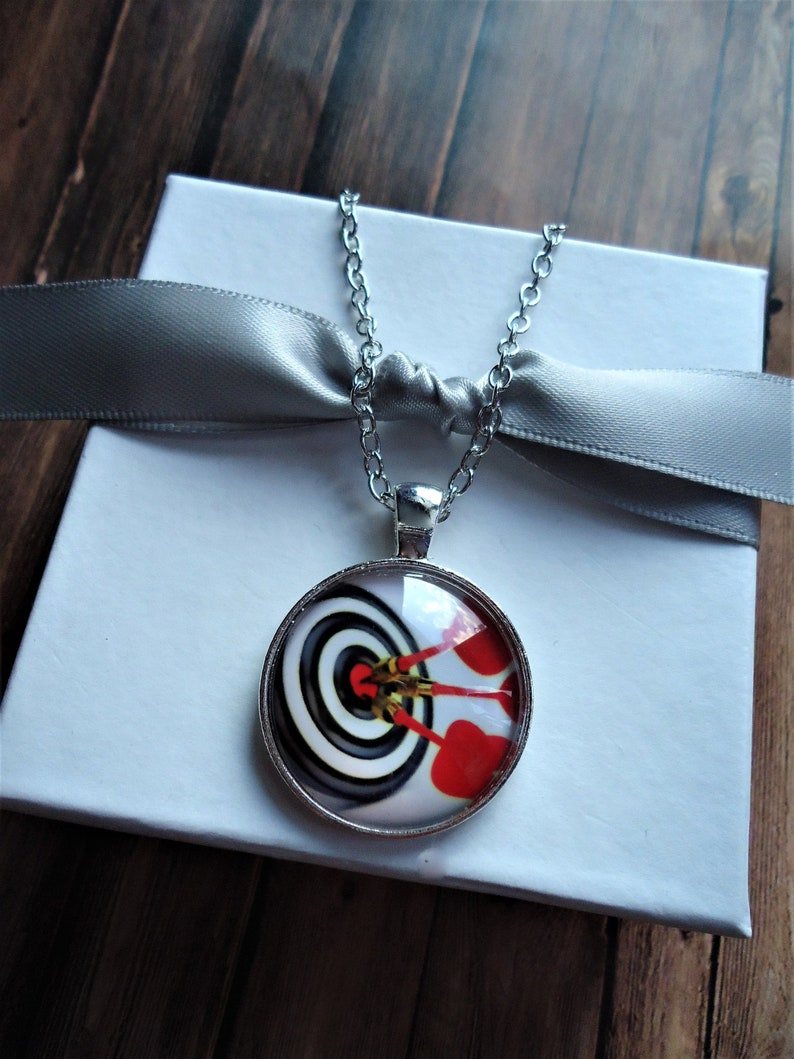 Darts Silver Key Chain Or Necklace Darts Jewelry Dart Player Gift Target Sport Gift Dart Board Gift Gaming Gift Unique Gift
