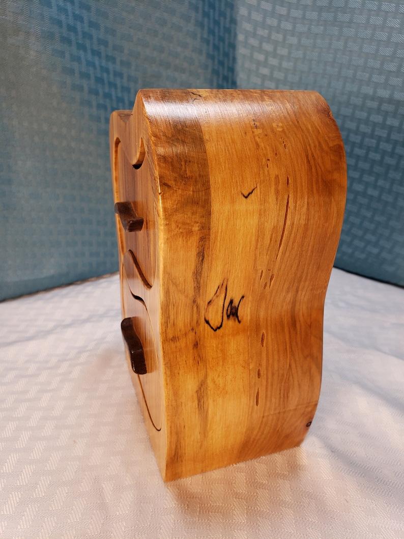 Spalted Maple Two Drawer Hendrix Jewelry Keepsake Band Saw Box