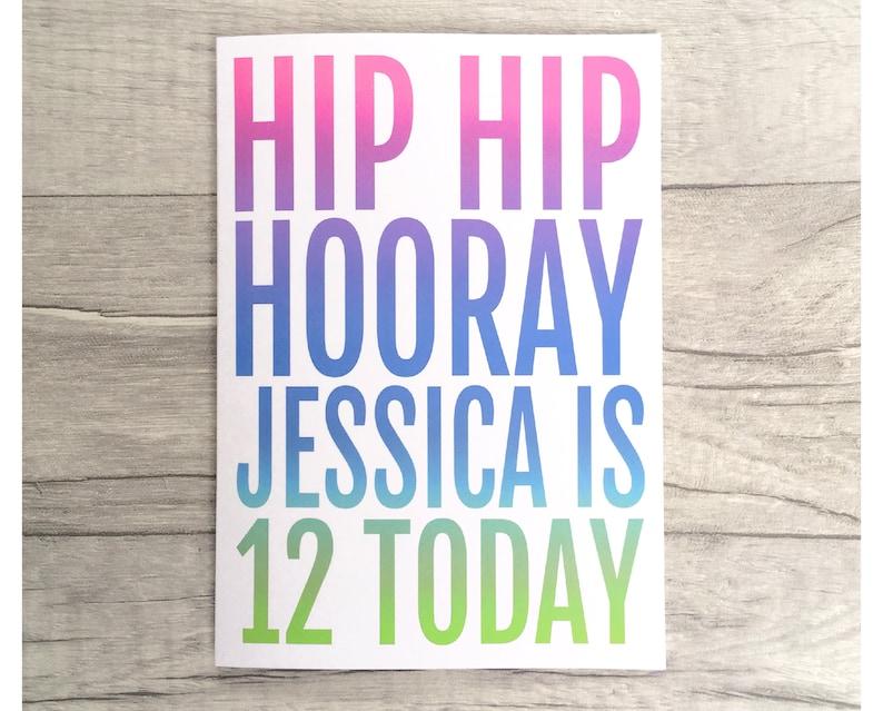Mädchen 10 11 12 13 14 15 16 Geburtstag Karte Etsy