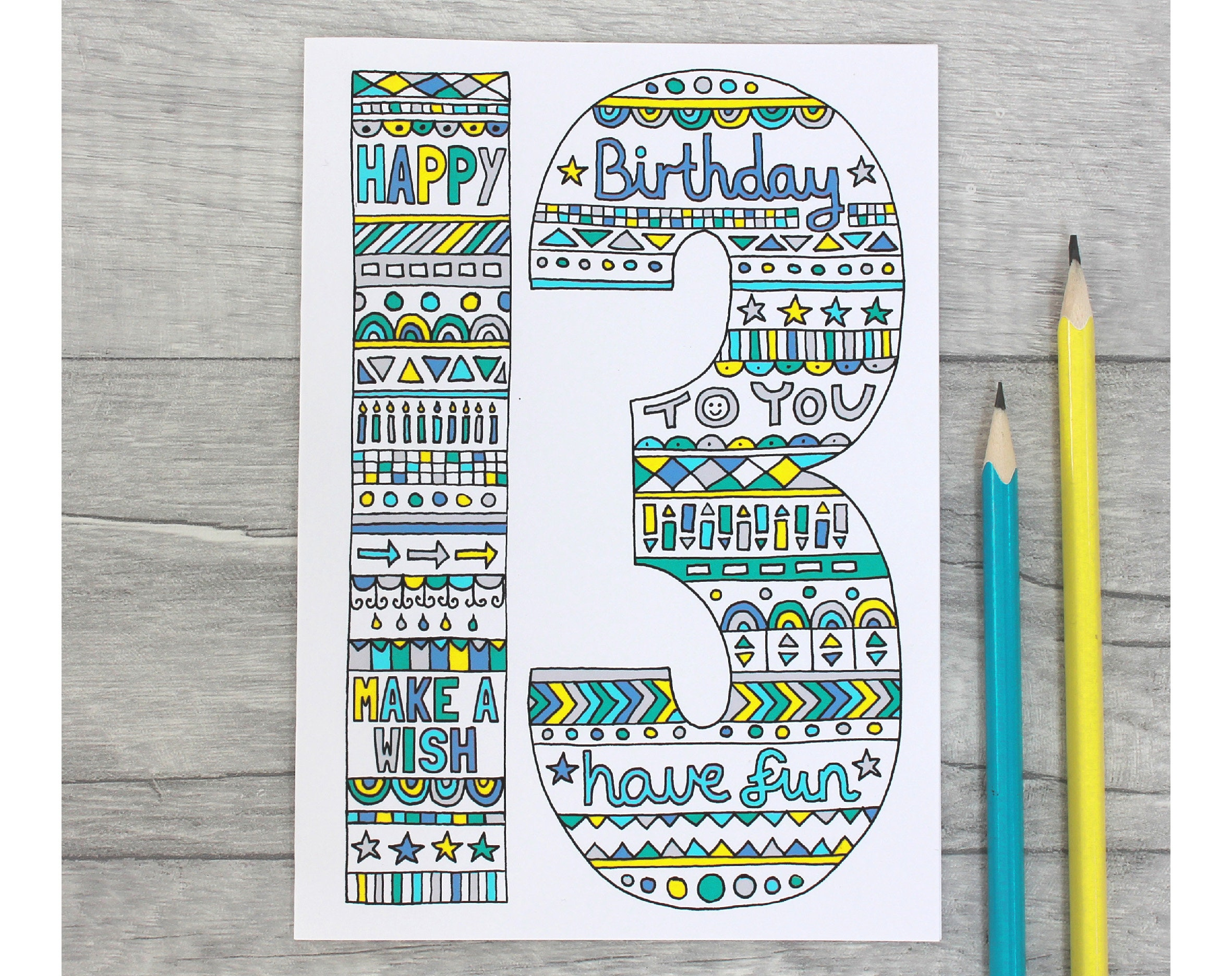 Details about  /Personalised Card Any Number Name 10th Birthday Word Art For Boy 11th 12th 13th