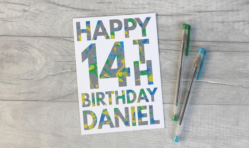 Boys 10th 11th 12th 13th 14th 15th 16th Birthday Card