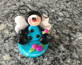 Polymer Clay Spring Lady Bug