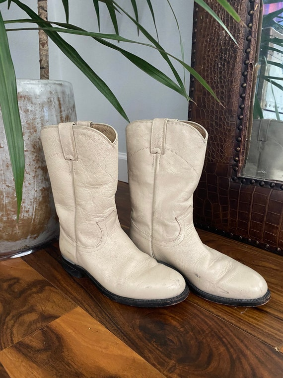 Justin Boots Women's Ivory White Cowboy Boots