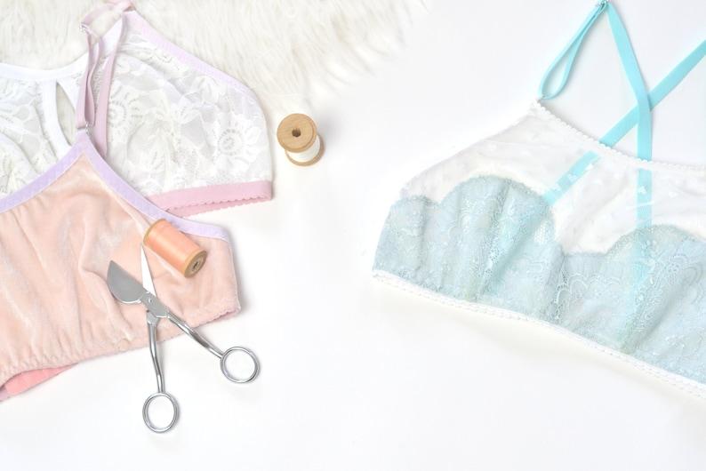 Grandes tailles incluses Soutien-gorge Cassiop\u00e9e sans armatures PDF 3 versions Patron de couture lingerie