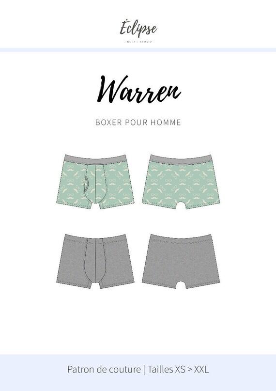 Patron de couture PDF Warren Caleçon boxer pour | Etsy