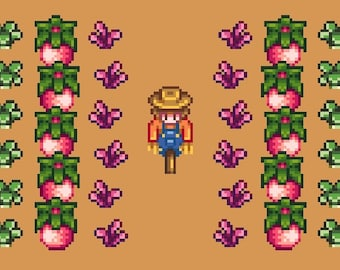 stardew valley scarecrow and crops cross stitch pattern digital file pdf - How The Grinch Stole Christmas Pdf