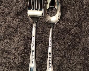 Diet fork and spoon silverware set