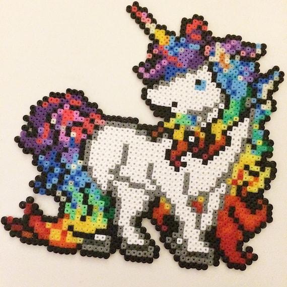 Unicorn Mini Hama Bead Art Etsy