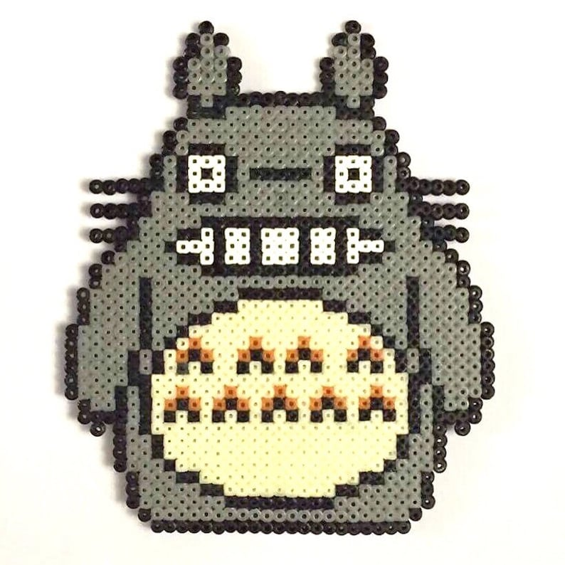 Studio Ghibli My Neighbour Totoro Mini Hama Bead Pixel Wall Etsy