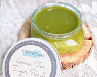 Green Tea Scrub - Green Tea Sugar Scrub - Green Tea Body Scrub - Green Tea Body Polish - Face Scrub - Foot Scrub - Hand Scrub - Herbal Scrub