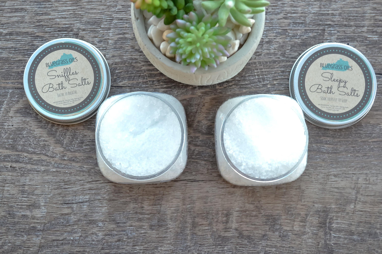 Organic Bath Salts - Natural Bath Soak - Epsom Salt Bath - Aromatherapy  Essential Oils - Spa Party Gift - Wedding Favors